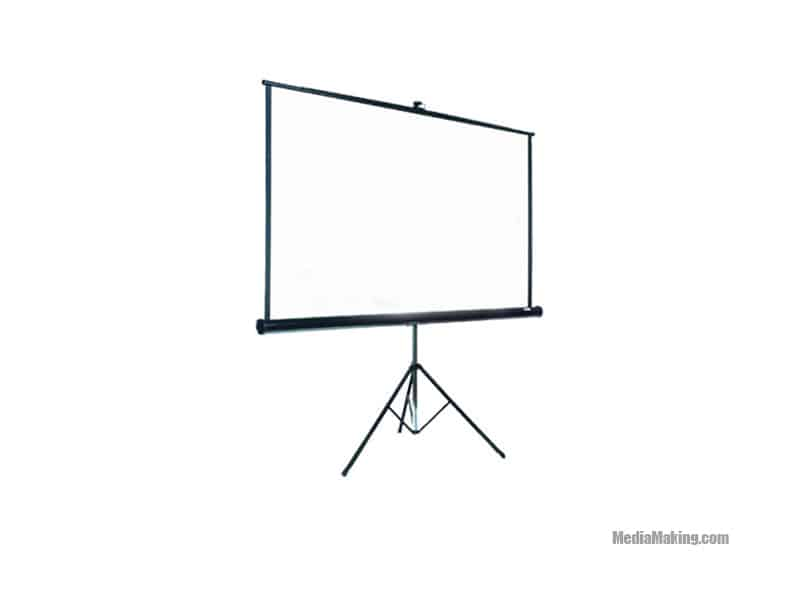 Screen 180 cm x 180 cm (frontal projection)