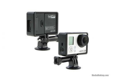 Side frame for GoPro with lens cover