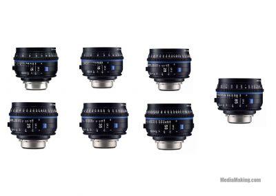 Zeiss CP.3 15-18-25-28-35-50-85mm lenses
