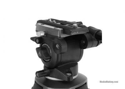 Fluid head  for dollies, slider and tripods
