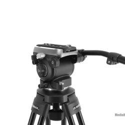 Testa video fluida base piatta per slider e cavalletti