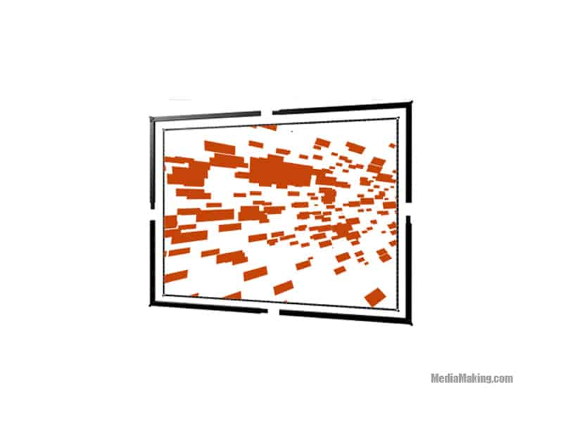 427 cm x 320 cm 4:3 screen (rear projection)