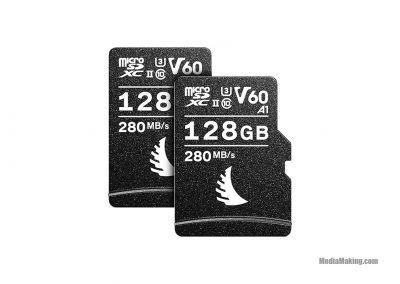 Scheda di memoria microSD Angelbird AV Pro 128 GB UHS-II V60 (2 pezzi)