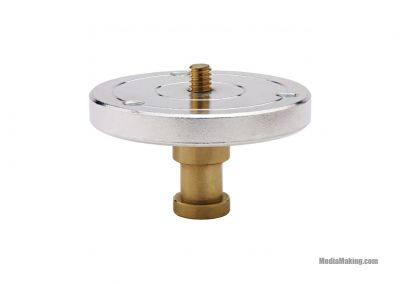 Spigot 1/4» with mounting plate with stud 5/8»