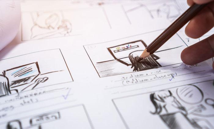 Realizzazione storyboard scrittura