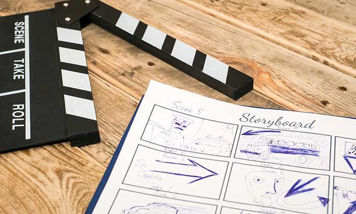 Realizzazione storyboard, script e scenografie per produzioni video